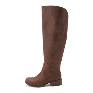 Lucky brand Harleen brown leather riding boots